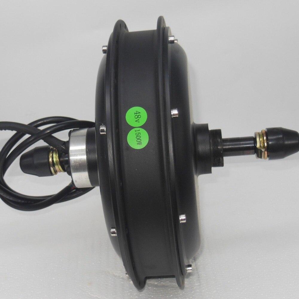 EVFITTING E-bike Fatbike Motore 48 Volt 1500 w Brushless DC Motore del Mozzo per la Ruota Posteriore Fatbike 170mm caduta di tensione