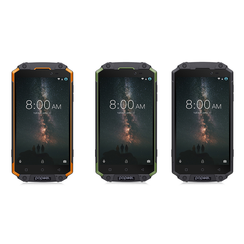 Original Poptel P9000 MAX 4G Smartphone Android 7.0 IP68 Waterproof Shockproof MTK6750V Octa Core 4GB And 64GB 9000mAh Phone