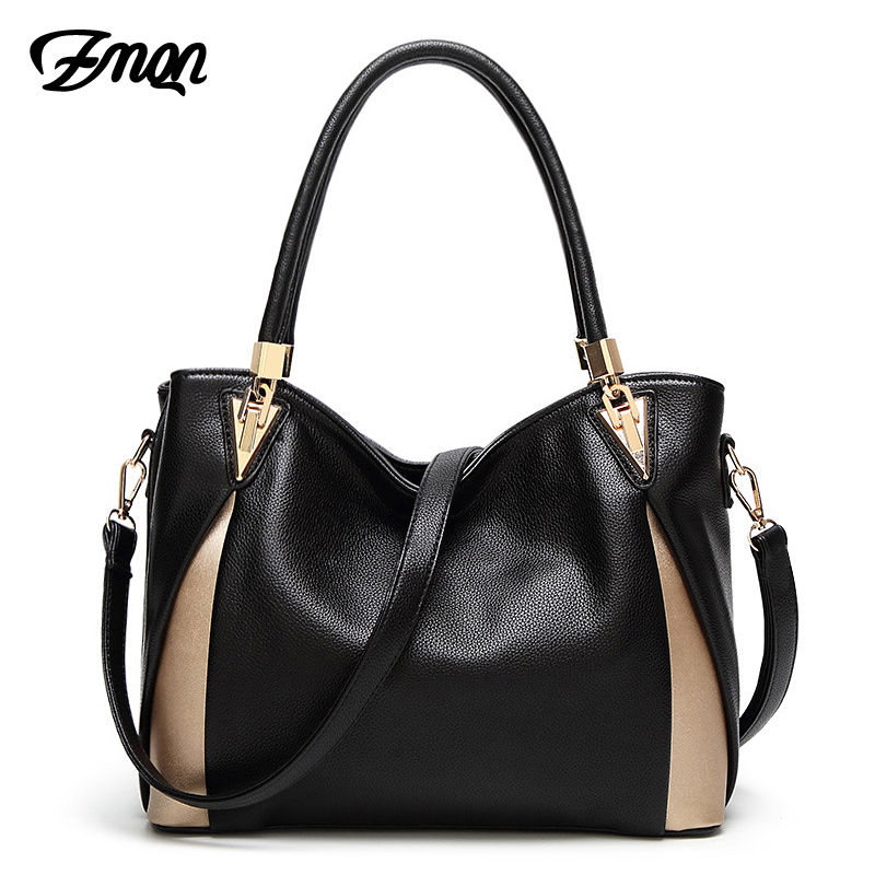 ZMQN Bags For Women 2018 Luxury Handbags Women Bags Designer Shoulder Bag Casual Tote PU Leather Handbags Kabelky Soild Bag A862 classic black leather tote handbags embossed pu leather women bags shoulder handbags elegant