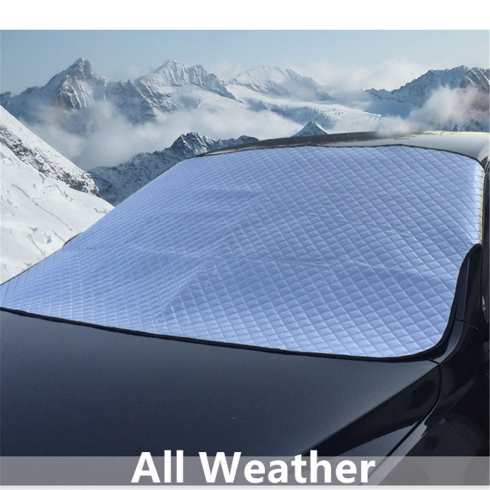 Car Sun Shade Windshield Snow Cover Protector Aluminum Foil Windscreen Winter Ice Rain F ...
