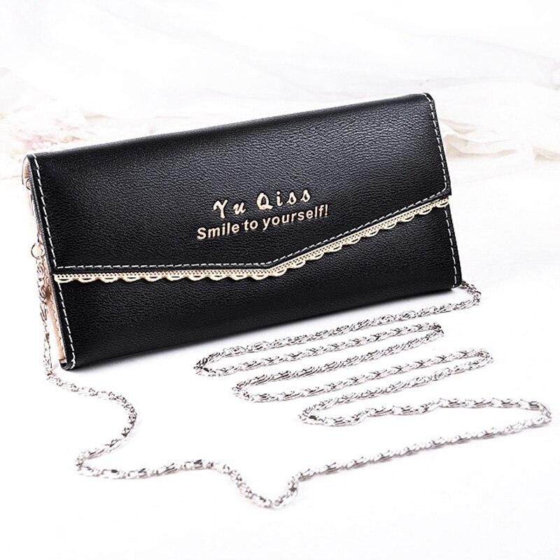 Fashion female bag Sweet lady PU Leather large capacity Long Wallets Women Handbags Cash Purse Card Holder single shoulder bags