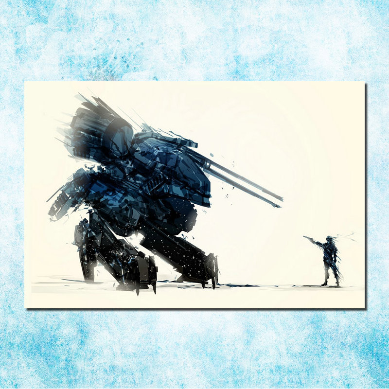 Us 4 4 24 Off Metal Gear Solid V The Phantom Pain Art Silk Canvas Poster Print 13x20 24x36 Inches Solid Snake Game Wall Picture More 6 In Painting