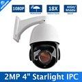 2MP Onvif P2P CCTV Ao Ar Livre com Zoom Óptico de 18x Alta/Média Velocidade Starlight Dome PTZ Câmera IP 1080 P LOW Lux P2P Vista IR 80 M