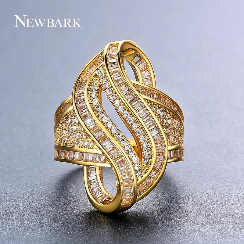 Pk Bazaar women rings trendy new jewellery ring gold color Biggest