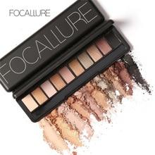 Focallure 10Pcs Makeup Palette Natural Eye Makeup Light Eye Shadow Makeup Shimmer Matte Eyeshadow Palette Set