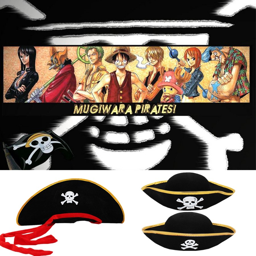 ONE PIECE Pirate Costume Hat Cosplay Anime Skull Hats Costume Accessories