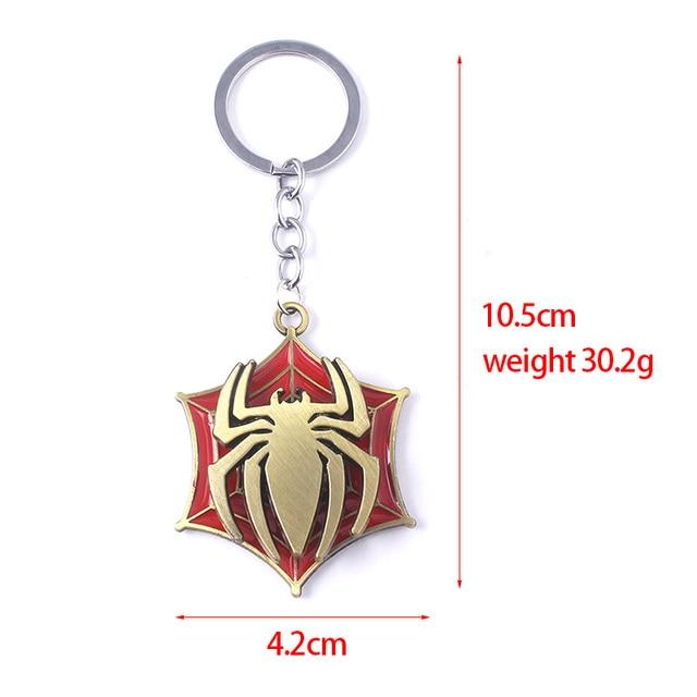 Avengers Super Hero Spiderman Rotatable Keychain Spider Red Web Pendant Key Chain for Women Men Keyring llaveros Jewelry 5