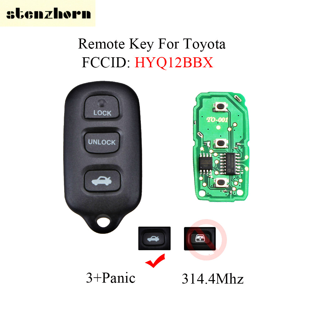 Stenzhorn 3+Panic 315Mhz Key Fob For Toyota Avalon 1998 1999 2000 2001 2002 2003 2004 Car Remote Keyless Entry HYQ12BBX/HYQ12BAN
