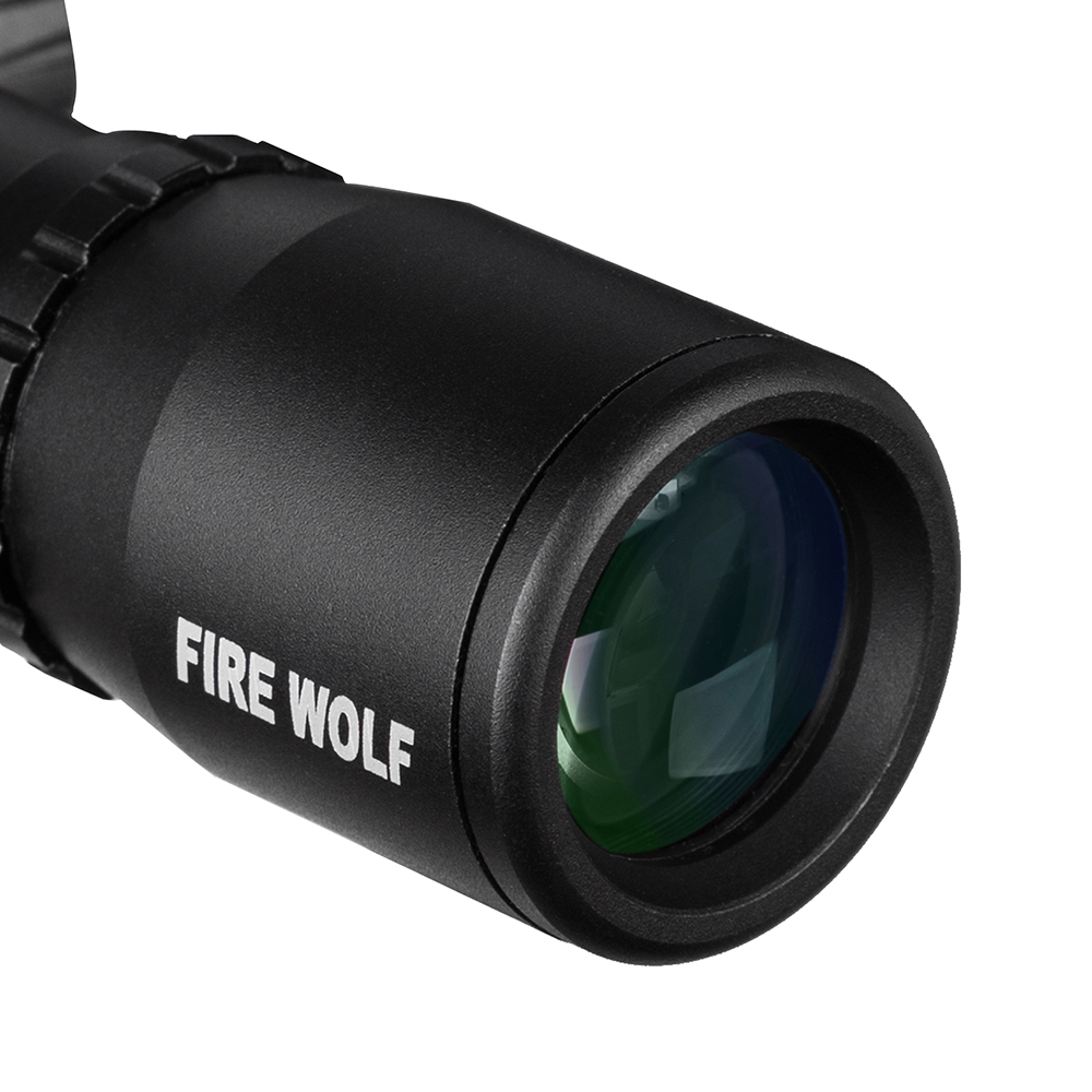 Image 4 - FIRE WOLF 4.5x20 Compact Hunting Rifle Scope Tactical Optical Sight P4 Reticle Riflescope With Flip open Lens Caps and Rings-in Riflescopes from Sports & Entertainment