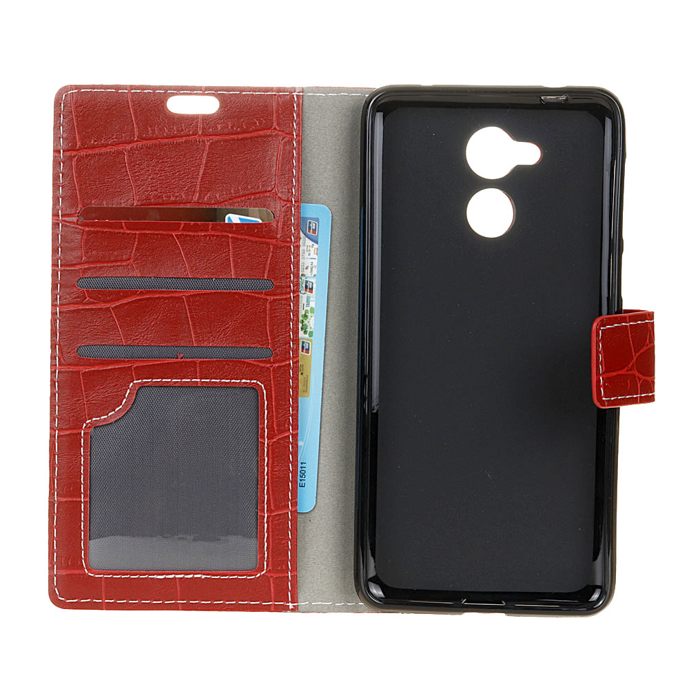 Uftemr Vintage Crocodile PU Leather Cover for Honor V9 Play Silicone Case For Huawei Honor 6C Pro Wallet Card Slot Acessories