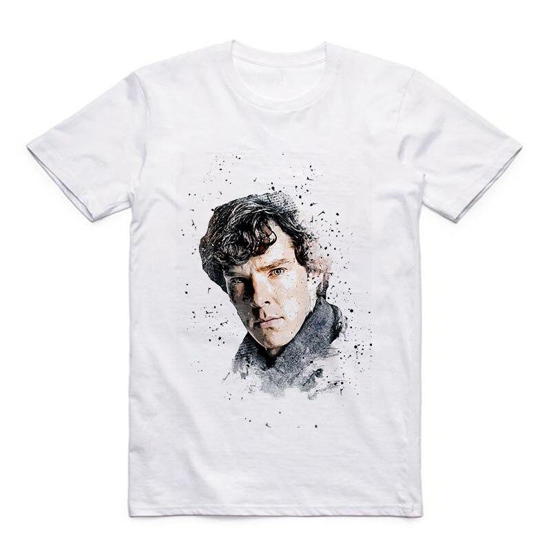 Movie T-shirt Sherlock/Jack Sparrow/Stallone UK London Mens Fashion Modal Casual Top
