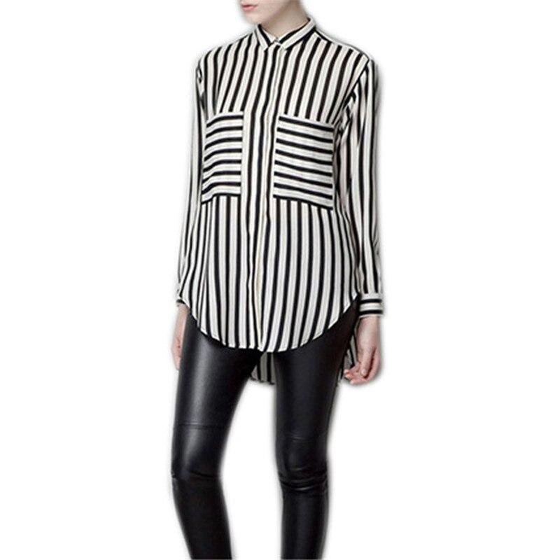 Formal blouses Long Sleeve Button Down Women's Shirt Vertical ...