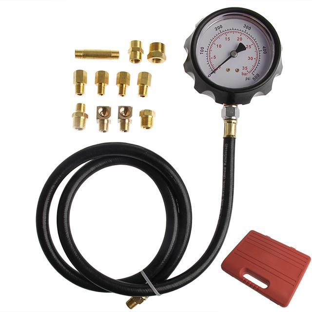 1 Conjunto de Testadores de Pressão De Combustível Do Carro Do Carro Auto Caixa de Onda Medidor de Pressão do cilindro de Pressão de Óleo Calibre Testador de Diagnóstico Conjunto de Serviços ferramentas