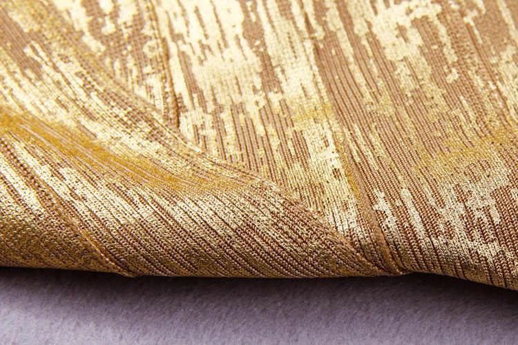 2020 New Goldผ้าพันแผลParty Dressฤดูร้อนผู้หญิงเซ็กซี่หนึ่งไหล่Vestidosค็อกเทลคลับสวมBodyconมินิเดรส