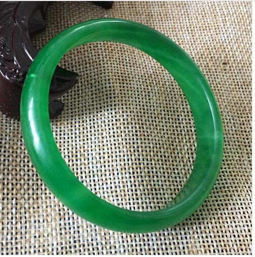 Certified Natural зеленый жадеит нефритовый браслет(сертификат доставки