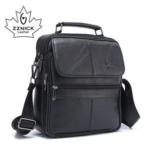 Image 2 - ZZNICK 2018 ของแท้ Cowhide หนังกระเป๋าสะพาย Messenger กระเป๋าผู้ชาย Crossbody กระเป๋ากระเป๋าถือกระเป๋าแฟชั่นผู้ชายใหม่