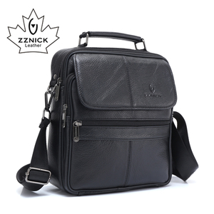 Image 2 - ZZNICK 2018 Genuine Cowhide Leather Shoulder Bag Small Messenger Bags Men Travel Crossbody Bag Handbags New Fashion Men Bag