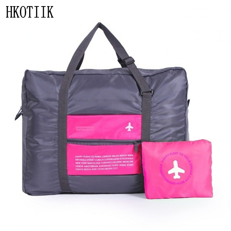 Mode rese väska multifunktionell stor kapacitet kvinnor Polyester Folding Bag Neutral Bagage Rese Handväska Gratis frakt