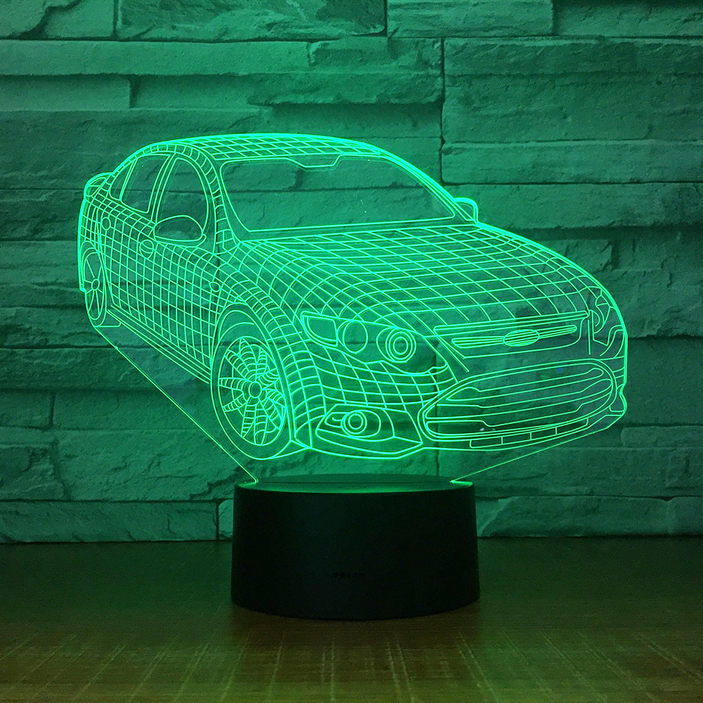 Small Night 3d Lamp Manufacturer New 3d Night Light Acrylic Lighting Creative Atmosphere Led Stereo Vision Kids Lamp