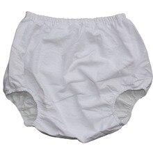 ABDL новые взрослые недержания Фланелевые штаны внутри ПВХ унисекс цвет белый PM003-7