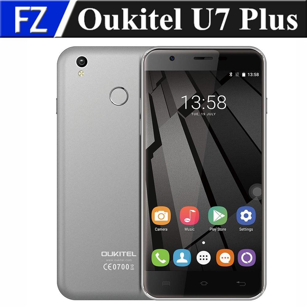 """Цена за Оригинал OUKITEL U7 Плюс 5.5 """"2.5D HD Android 6.0 MTK6737 Quad Core 4 Г LTE смартфон 13MP 2 ГБ ram 16 ГБ rom dual sim отпечатков пальцев"""