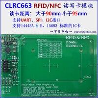 CLRC663 Módulo RFID/NFC Ler-Escrever Placa de Desenvolvimento Do Módulo Distância