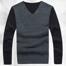 Long Sleeve Sweater Mens Jumpers 2015 New Bran High Fashion Pullover Sweater Men V Neck Mens Knitted Sweater Pullover Masculino