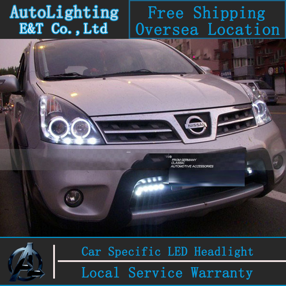 Car Styling LED Head Lamp for Nissan Livina headlights 2008-2011 Livina led headlight drl H7 hid Q5 Bi-Xenon Lens low beam auto clud style led head lamp for benz w163 ml320 ml280 ml350 ml430 led headlights signal led drl hid bi xenon lens low beam