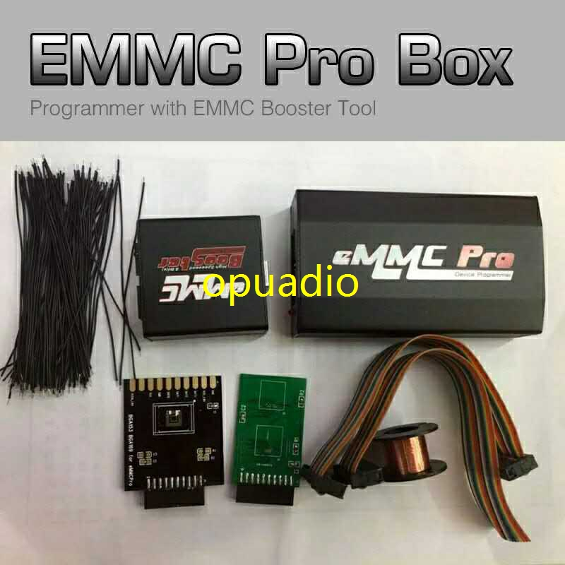 Full set Original EMMC Pro box device programmer with EMMC Booster Tool cable all in one