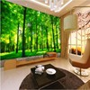 Customized Large Scale Murals 3D Aesthetic Three Dimensional Green Forest TV Wall Wallpaper Non Woven Wallpaper