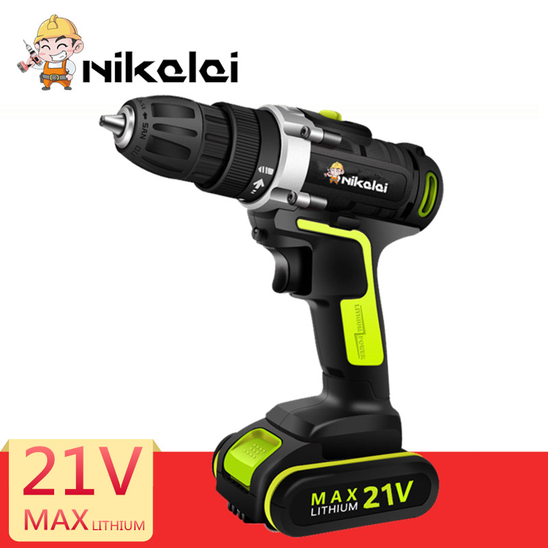 21V Multifuctional Screwdriver lithium battery electric Screwdriver cordless screwdriver charger Hand drill driver powerful tool