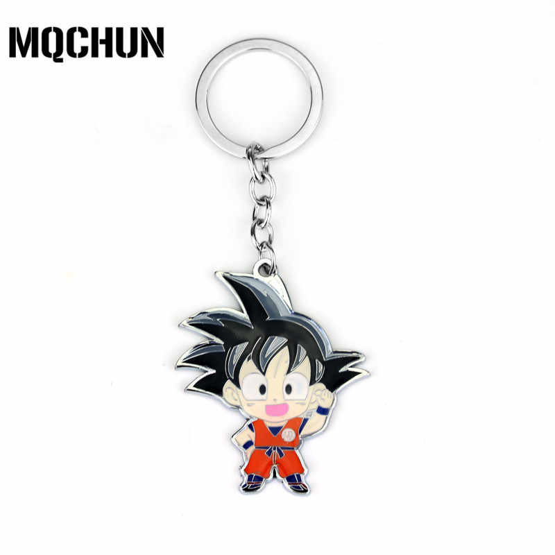 Anime DragonBall Z Son Goku Metal Key Chain Silver Cosplay Keychain Key Ring New