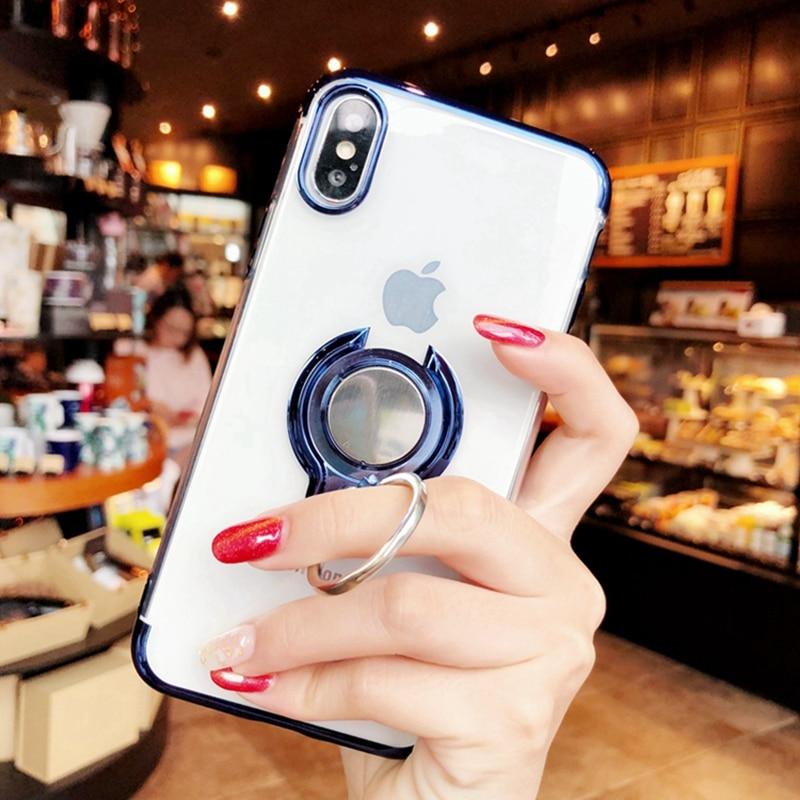 360 Стенд для колец на палец чехол для iphone XS Max 8 iphone 7 8 plus магнит kickstand Coque чехол для iphone 6 6s plus iphone XR чехол