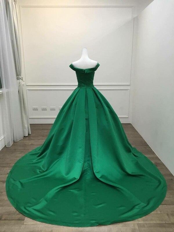 Robe De Soirée 2018 V-cou Corsage Robe De Bal Vert Longue Robe De soirée Partie Élégante tenue De fête expédition rapide robes De bal - 3