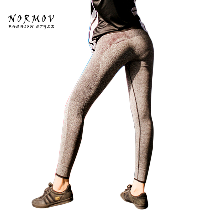 NORMOV Women's Workout Leggings Mote Polyester Breathble High Waist Leggings Sportswear Advanture Time Leggings Women