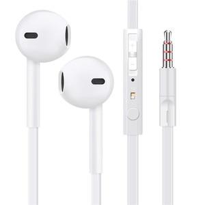 Image 4 - EARDECO Flat Wire In Ear Earphones Headphones Bass HiFi Earbuds Wired 3.5mm Earpiece Phone Earphone Headset with Mic Auriculare