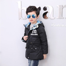 2016 Boy Girl Jacket Winter Coat Kid Warm Jacket Camouflage Down Letter Print Children Hood Sport Clothing Winter Girl Boy Parka