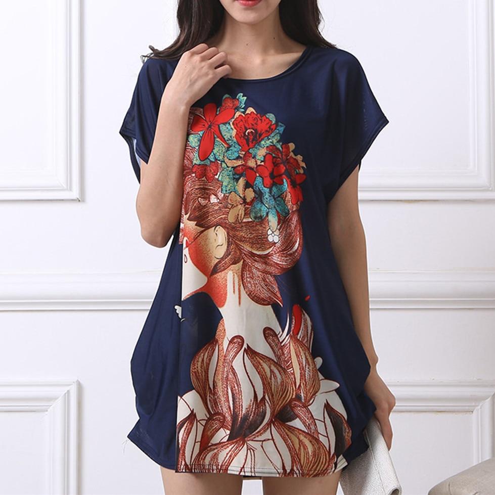 ახალი 2018 T მაისური Dress Plus Size - ქალის ტანსაცმელი - ფოტო 3
