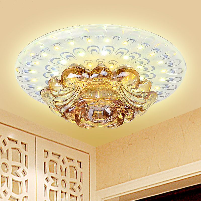 ФОТО Modern living room ceiling light  15W corridor ceiling lamp decorative porch balcony crystal home indoor  lighting
