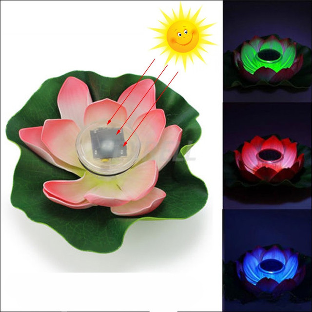2pcslot solar power floating lotus flower 5 colors for choice 2pcslot solar power floating lotus flower 5 colors for choice multicolor changing led light mightylinksfo Gallery