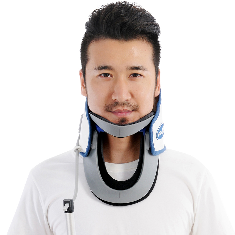 Upgrade Neck Brace With Pump Adjustable Cervical Collar Neck Brace Air Traction Therapy Device Relax Pain Relief Tool  For Men neck support braces household cervical collar air traction therapy device relax pain relief tool universal size health care
