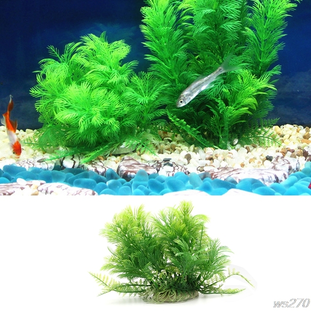 artificial plastic plants grass aquarium fish tank decoration