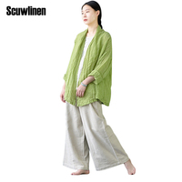 SCUWLINEN 2017 Spring Summer Women Top