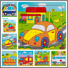 Wooden Puzzles Kids Educational Toys DIY Wooden Jigsaw Puzzle For Children Adults Baby Children s Traffic