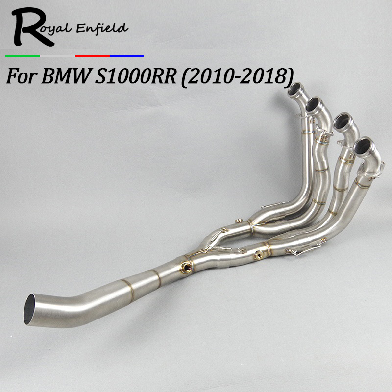 Motorcycle Full Exhaust System Slip-On Pipe Tube For BMW S1000RR S1000 RR 2010 2011 2012 2013 2014 2015 2016 2017 2018 mtclub 61mm muffler exhaust middle link pipe escape connection pipe slip on for bmw s1000rr 2010 2011 2012 2013 2014 s 1000 rr