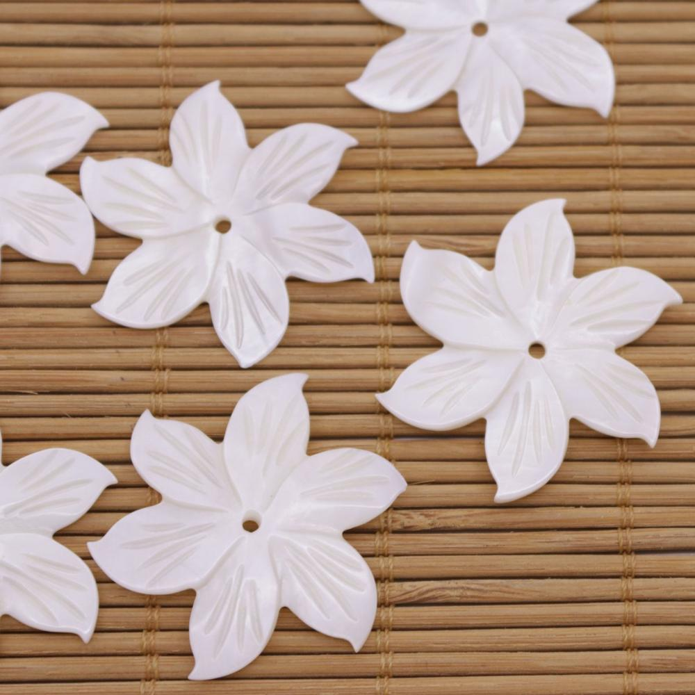 Купить с кэшбэком 10PCS 35mm Shell Natural White Mother of Pearl Jewelry Making DIY