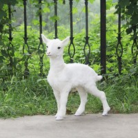 cute simulation small sheep model toy polyethylene & furs goat baby model gift about 65x23x60cm 0692