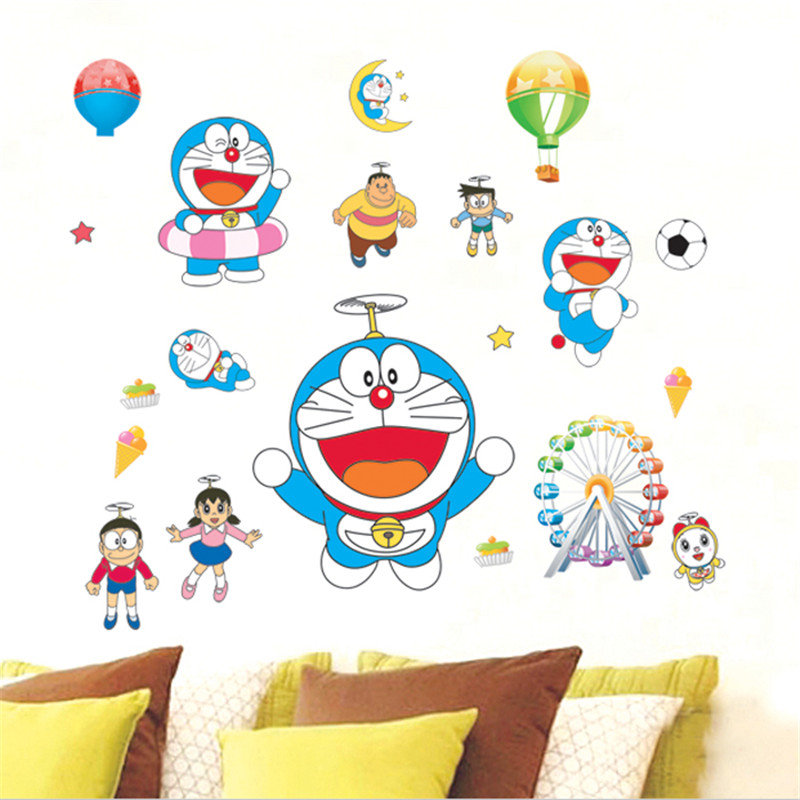 online get cheap baby wall decorating stickers doraemon, Deco ideeën