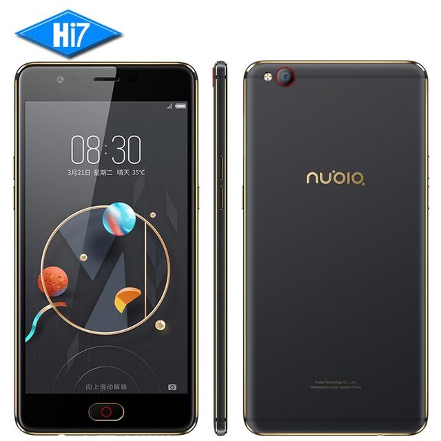 Новый оригинальный zte nubia м2 lite мобильный телефон mt6750 octa Core 5.5 дюймов 13.0MP 3000 мАч Android Отпечатков Пальцев ID 4 Г LTE смартфон