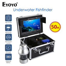Eyoyo Visual Video Fish Finder Camera 9inch With DVR Recorder 18pcs IR 360 Degree Rotating Ice Fishing